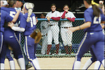 ** SPCL to  Tuscaloosa News and Birmingham News** Alabama's Blair Potter, left, and Jessica Smith watch the Washington team celebrate their 7-5 win in the NCAA Softball Super Regional game Saturday May 26, 2007 in Seattle.  Washington beat Alabama 7-5 to advance to the College World Series. (AP Photo/Jim Bryant)