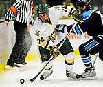 29 January 2010: University of Vermont Catamount forward Tobias Nilsson-Roos, a Freshman from Malmo, Sweden, in action during the first period against the University of Maine Black Bears at Gutterson Fieldhouse in Burlington, Vermont. The Black Bears defeated the Catamounts 6-3 in the first game of their America East weekend series. Mandatory Credit: Ed Wolfstein Photo