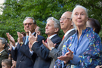 NEW YORK CITY, UNITED STATES SEPTEMBER 16, 2016: United Nations messenger of peace (center) actor Michael Douglas  during the the Peace Bell Ceremony to commemorate the International Day of Peace at the United Nations in New York.Photo by VIEWpress/Maite H. MateoPhoto by VIEWpress/Maite H. Mateo