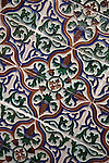 Tile Detail in the interior of the Royal -Real Casino of Murcia, Spain