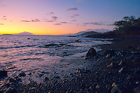 Sunset view From Ahihi-Kinau Nature Preserve, Wailea-Makena, Maui
