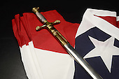 Stock photo of flag and sword