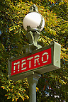Paris - France - sMetro Sign - Champs  Eleysee