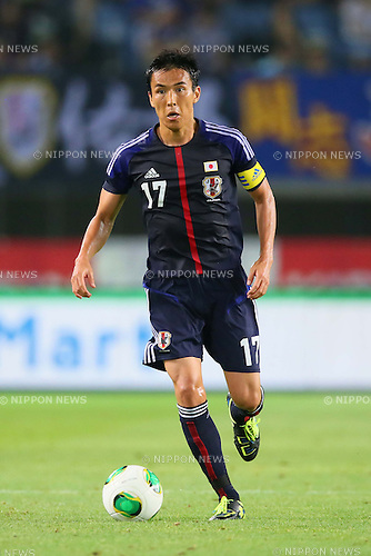 Makoto Hasebe (JPN), AUGUST 14, 2013 - Football / Soccer : <br /> KIRIN Challenge Cup 2013 match <br /> between Japan 2-4 Uruguay <br /> at Miyagi Stadium, Miyagi, Japan.<br />  (Photo by AFLO SPORT)