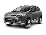 Gray 2013 Ford Escape SUV, car isolated on white background with clipping path.