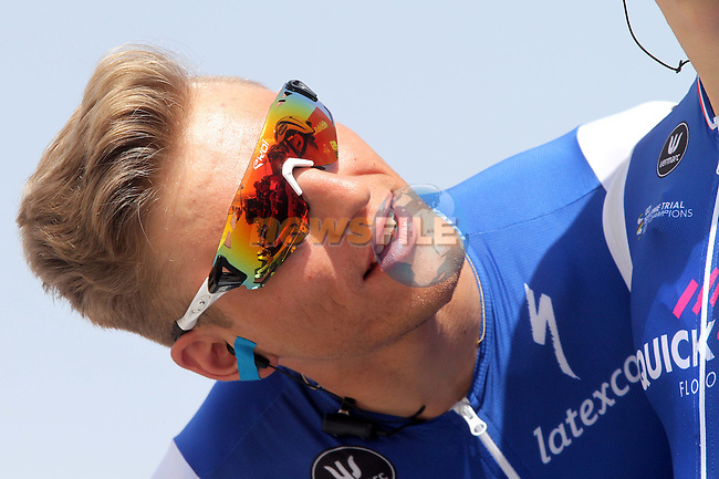 Marcel Kittel (GER) Quick-Step Floors at sign on before the start of Stage 1 Emirates Motor Company Stage of the 2017 Abu Dhabi Tour, running 189km from Madinat Zayed through the desert and back to Madinat Zayed, Abu Dhabi. 23rd February 2017<br /> Picture: ANSA/Matteo Bazzi | Newsfile<br /> <br /> <br /> All photos usage must carry mandatory copyright credit (&copy; Newsfile | ANSA)
