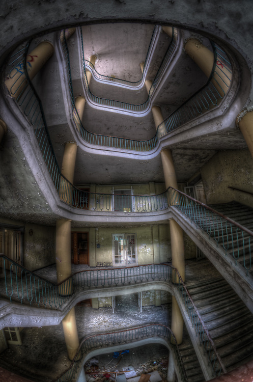Very large staircase in East Germany