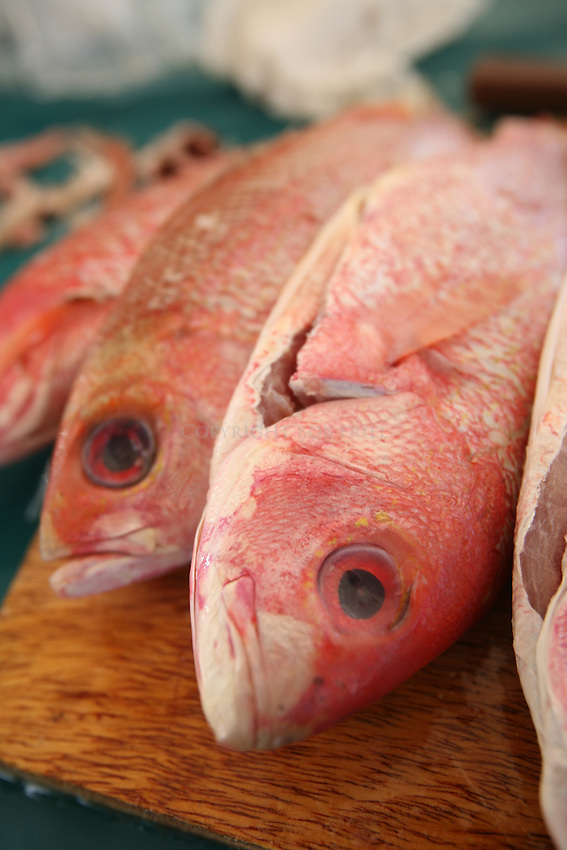 Red Snapper for Friday night's fish fry.Oistin's.Christ Church Parish.Barbados