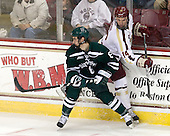 Tim O'Brien (Dartmouth - 8), Brooks Dyroff (BC - 14) - The Boston College Eagles defeated the visiting Dartmouth College Big Green 6-3 (EN) on Saturday, November 24, 2012, at Kelley Rink in Conte Forum in Chestnut Hill, Massachusetts.