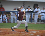 Mississippi State's Brent Brownlee drives in a run with a sacrifice fly at Oxford-University Stadium in Oxford, Miss. on Thursday, May 12, 2011. (AP Photo/Oxford Eagle, Bruce Newman)