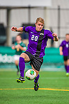19 October 2013: University at Albany Great Danes Midfielder Phil Denara, a Sophomore from WestIslip, NY, in action against the University of Vermont Catamounts at Virtue Field in Burlington, Vermont. The Catamounts defeated the visiting Danes 2-1. Mandatory Credit: Ed Wolfstein Photo *** RAW (NEF) Image File Available ***