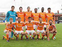 San Francisco, California - Saturday March 17, 2012: Houston Dynamo starting lineup prior to the MLS match between Houston Dynamo and San Jose Earthquakes. Houston Dynamo defeated San Jose Earthquakes 1-0