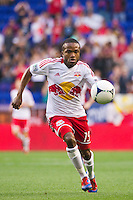 Dane Richards (19) of the New York Red Bulls. The New York Red Bulls and CD Chivas USA played to a 1-1 tie during a Major League Soccer (MLS) match at Red Bull Arena in Harrison, NJ, on May 23, 2012.