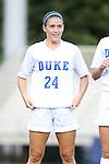 14 August 2014: Duke's Morgan Reis. The Duke University Blue Devils hosted the University of South Carolina Gamecocks at Koskinen Stadium in Durham, NC in a 2014 NCAA Division I Women's Soccer preseason match. Duke won the exhibition 2-0.