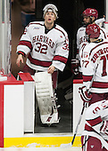 Peter Traber (Harvard - 32), Luke Esposito (Harvard - 9) - The Harvard University Crimson defeated the visiting Rensselaer Polytechnic Institute Engineers 5-2 in game 1 of their ECAC quarterfinal series on Friday, March 11, 2016, at Bright-Landry Hockey Center in Boston, Massachusetts.