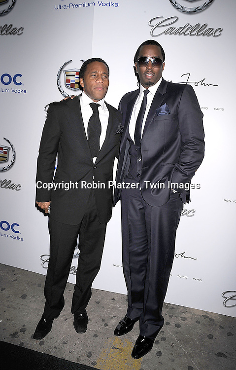 "Sean Diddy Combs  and Jeff Tweedy arriving at The Sean John Fall 2008 Fashion Show afterparty at Tenjune on February 8, 2008 in New York City...Sean John is the fashion line of Sean ""Diddy"" Combs...Robin Platzer, Twin Images....212-935-0770"