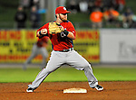 5 March 2012: Washington Nationals infielder Jarrett Hoffpauir in action during a Spring Training game against the New York Mets at Digital Domain Park in Port St. Lucie, Florida. The Nationals defeated the Mets 3-1 in Grapefruit League play. Mandatory Credit: Ed Wolfstein Photo