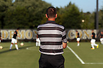 26 August 2016: Wake Forest head coach Bobby Muuss watches his team warmup before the game. The Wake Forest University Demon Deacons hosted the Saint Louis University Billikens in a 2016 NCAA Division I Men's Soccer match. SLU won the game 1-0.