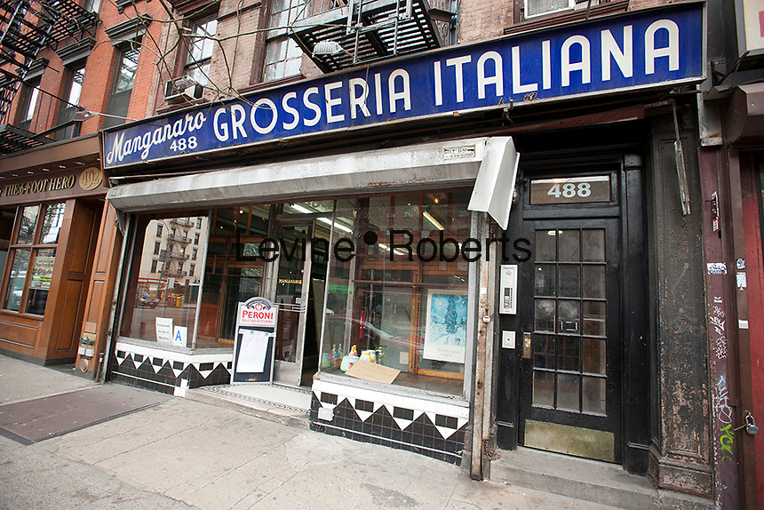 The Manganaro Grosseria Italiana on Ninth Avenue in the Hell's Kitchen neighborhood of New York is seen on Monday, February 27, 2012.  The restaurant is to close today.  (© Richard B. Levine)