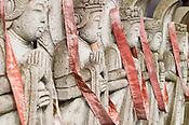 Stone statues of Bhudda in Fukui City, Japan.
