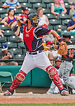 19 March 2015: Atlanta Braves catcher Braeden Schlehuber in Spring Training action against the Miami Marlins at Champion Stadium in the ESPN Wide World of Sports Complex in Kissimmee, Florida. The Braves defeated the Marlins 6-3 in Grapefruit League play. Mandatory Credit: Ed Wolfstein Photo *** RAW (NEF) Image File Available ***