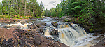 One of the spectacular waterfalls at Amnicon Falls State Park in Wisconsin.