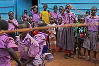 Elgon Infant School in Kireka Barracks... An shanytown living area for Kampala police.  Also in this Kireka area just outside Kampala is the area where the northerners that wanted to escape the LRA are breaking rocks.