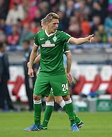 Fussball  1. Bundesliga  Saison 2013/2014  8. Spieltag VfB Stuttgart - SV Werder Bremen     05.10.2013 JUBEL Werder Bremen; Torschuetze zum 1-1 Ausgleich; Nils Petersen