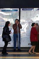 Unione Italiana dei Ciechi e degli Ipovedenti. Manifestazione di protesta ad una fermata della metropolitana di Roma. Richiedono maggiori misure di sicurezza..Italian Union of the Blind and Visually Impaired. Protest demonstration at a metro station in Rome. They require more safety measures....