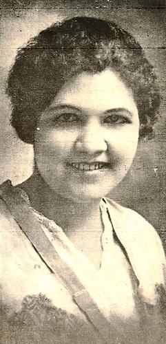 Josefa Antonia Perdomo Bona, sobrina de Josefa A. Perdomo. Revista Letras 1918.