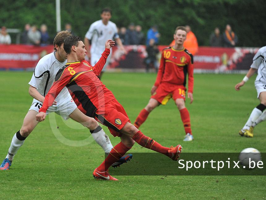 Georgia U19 - Belgium U19 : Birger Verstraete (8)<br /> foto DAVID CATRY / Nikonpro.be