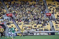 Action from the A League - Wellington Phoenix v Newcastle Jets at Westpac Stadium, Wellington, New Zealand on Sunday 26 October 2014. <br /> Photo by Masanori Udagawa. <br /> www.photowellington.photoshelter.com.