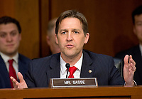 United States Senator Ben Sasse (Republican of Nebraska) questions Judge Neil Gorsuch as he testifies before the US Senate Judiciary Committee on his nomination as Associate Justice of the US Supreme Court to replace the late Justice Antonin Scalia on Capitol Hill in Washington, DC on Tuesday, March 21, 2017.<br /> Credit: Ron Sachs / CNP /MediaPunch