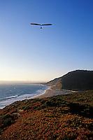 California, Santa Cruz County, Hang gliding on the coast