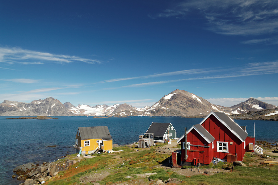 Settlement of Kulusuk on Torsuut Tunoq sound, East Greenland