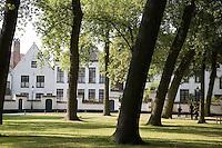 Begijnhof, Bruges; Belgium; Europe