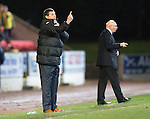 St Johnstone v Livingston.....30.11.13     Scottish Cup 4th Round<br /> Tommy Wright gives instructions<br /> Picture by Graeme Hart.<br /> Copyright Perthshire Picture Agency<br /> Tel: 01738 623350  Mobile: 07990 594431