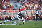 Ole Miss linebacker Mike Marry (52) tackles Georgia running back Todd Gurley (3) at Sanford Stadium in Athens, Ga. on Saturday, November 3, 2012.