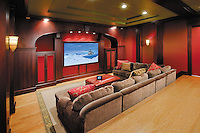 Media Room with Hidden Technology
