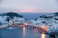 Port of Ponza on the island of Ponza, Italy
