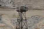 Osprey nest on old lighthouse platform