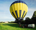 The Hot Air Balloon almost inflated and ready for take off...Pic Conor McKeown