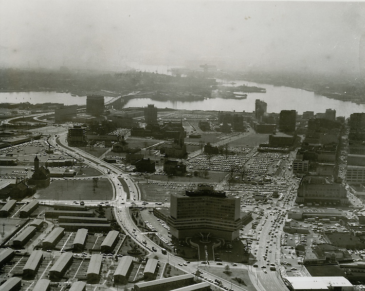 1965 December 27..Redevelopment.Downtown North (R-8)..Aerial view south..VU Photos.NEG# 1-958.NRHA# 2035..