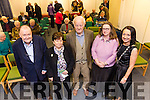 Speakers at the Kerry Archaeological and Historical Society Golden Jubilee Seminar at the Kerry County Library Tralee on Tuesday were Gerard Lyne, Chairperson of the Golden Jubilee Seminar, Kathleen Browne, Founder Member, Richard Hilliard, Isabel Bennett and Marie O'Sullivan, President Kerry Archaeological and Historical Society