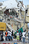 A ruined market in Port-au-Prince, Haiti, which was rocked by a devastating earthquake on January 12.