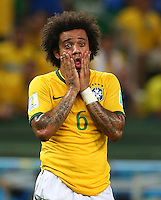 Marcelo of Brazil shows a look of dejection