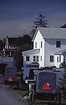 Amish buggies at house church,  Lancaster County, PA