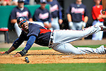 6 March 2011: Atlanta Braves' outfielder Jason Heyward is out sliding home during a Spring Training game against the Washington Nationals at Space Coast Stadium in Viera, Florida. The Braves shut out the Nationals 5-0 in Grapefruit League action. Mandatory Credit: Ed Wolfstein Photo