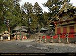 Karadou Torii Bronze Torii Gate Omizuya Purification Pavilion Kyozo Sutra Storehouse Kamijinko Azekura-zukuri Log Cabin style Storehouse Nikko Toshogu Shrine Nikko Japan