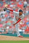 2 September 2012: St. Louis Cardinals relief pitcher Sam Freeman on the mound against the Washington Nationals at Nationals Park in Washington, DC. The Nationals edged out the visiting Cardinals 4-3, capping their 4-game series with three wins. Mandatory Credit: Ed Wolfstein Photo